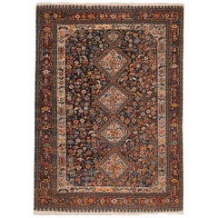 Tribal Antique Persian Qashqai Rug. Size: 4 ft 7 in x 6 ft 3 in (1.4 m x 1.9 m)