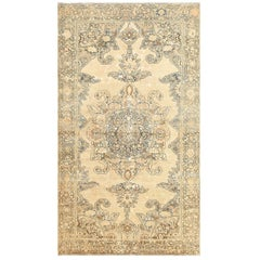 Tribal Antique Shabby Chic Persian Malayer Rug. Size: 4 ft 3 in x 7 ft 3 in