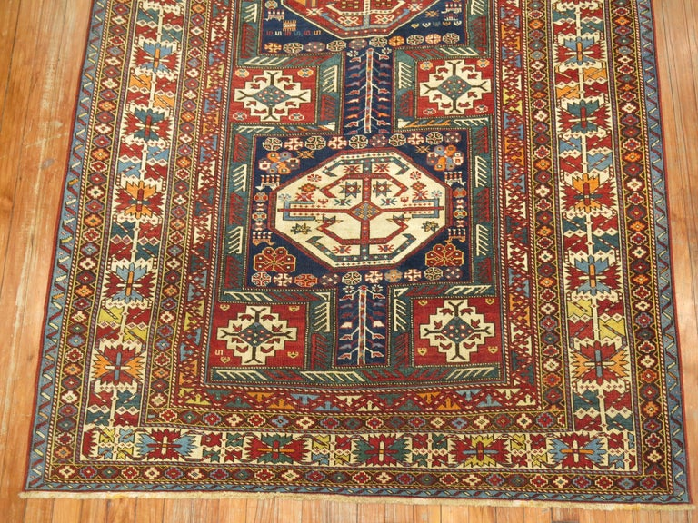 Hand-Woven Tribal Antique Shirvan Rug For Sale