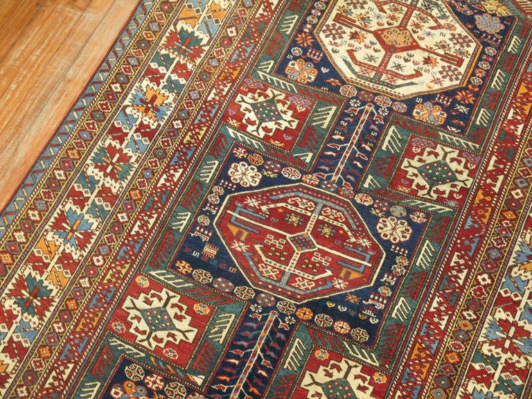 Tribal Antique Shirvan Rug In Excellent Condition For Sale In New York, NY