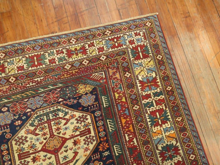 19th Century Tribal Antique Shirvan Rug For Sale