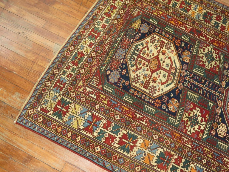 Wool Tribal Antique Shirvan Rug For Sale