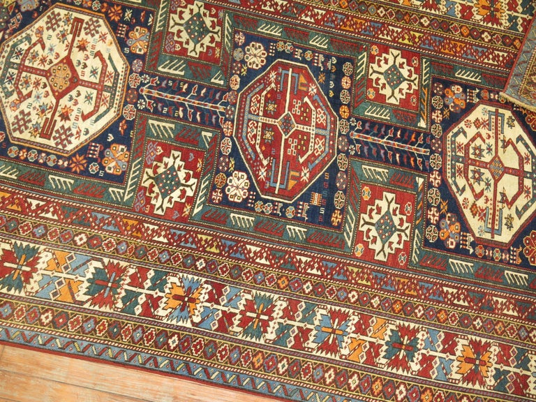 Tribal Antique Shirvan Rug For Sale 1