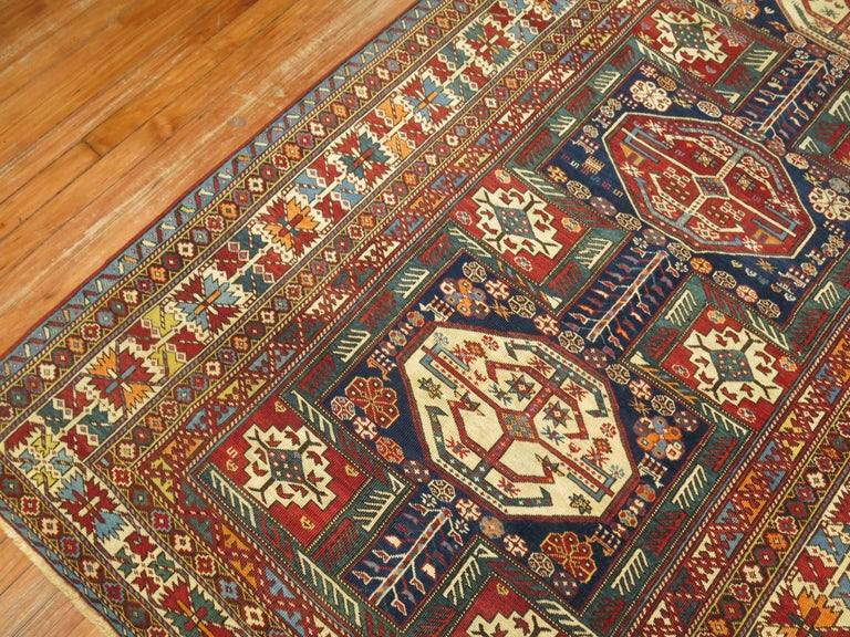Tribal Antique Shirvan Rug For Sale 2
