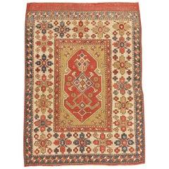 Tribal Antique Turkish Bergama Rug