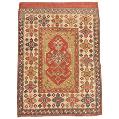 Tribal Antique Turkish Bergama Rug. Size: 3 ft x 4 ft 6 in (0.91 m x 1.37 m)