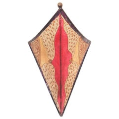 Tribal Art African Parchment Wall Sconce