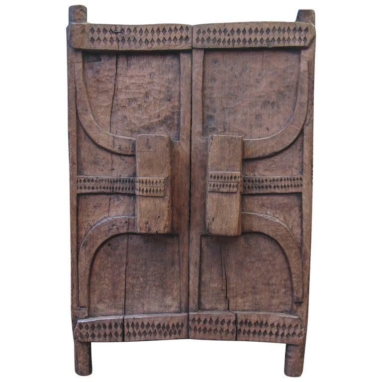 Tribal Art, Granary Wooden Door of the Naga Culture For Sale
