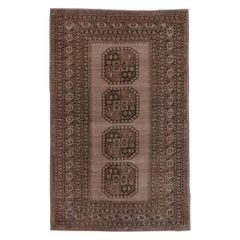 Tribal Brown Afghan Turkoman Ersari Rug