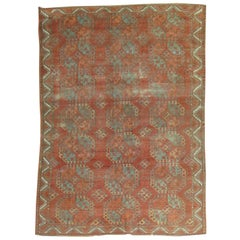 Tribal Brown Antique Ersari Carpet