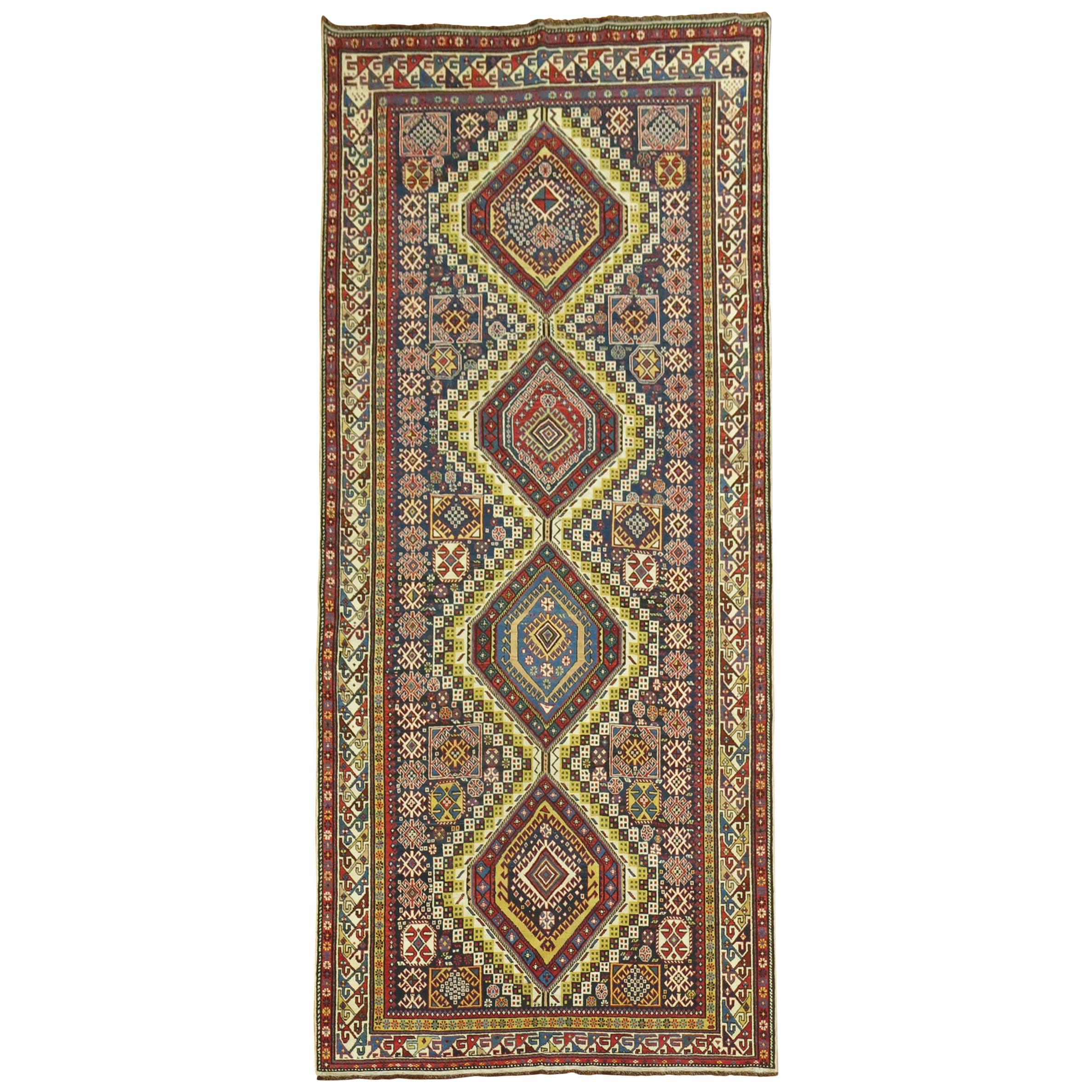 Tribal Caucasian Antique Shirvan Gallery Rug
