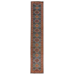 Contemporary Pakistani Kazak Style Runner Rug