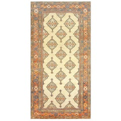 Tribal Gallery Size Antique Persian Serab Rug. Size: 6 ft 9 in x 13 ft