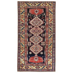 Tribal Geometric Antique Shirvan Runner, Early 20th Century