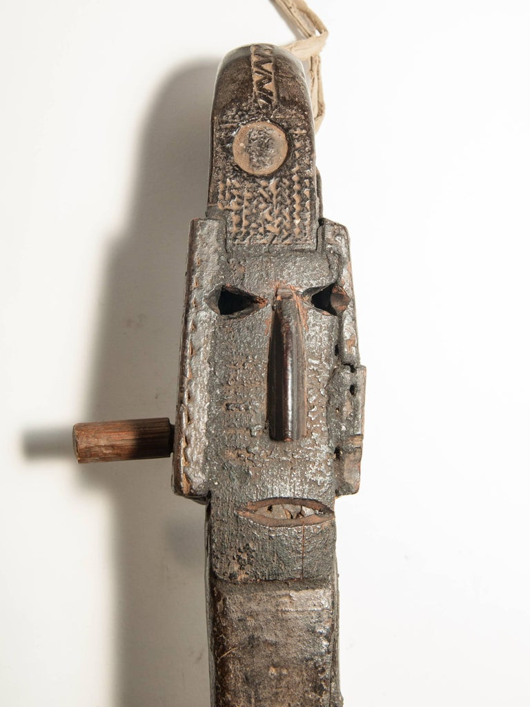 Tribal Hand-Carved Lute or Sarangi, Gaine of Nepal Himal, Early 20th Century. For Sale 5