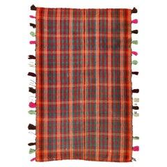 Tribal Kilim Jajim Blanket Hand Woven Vintage
