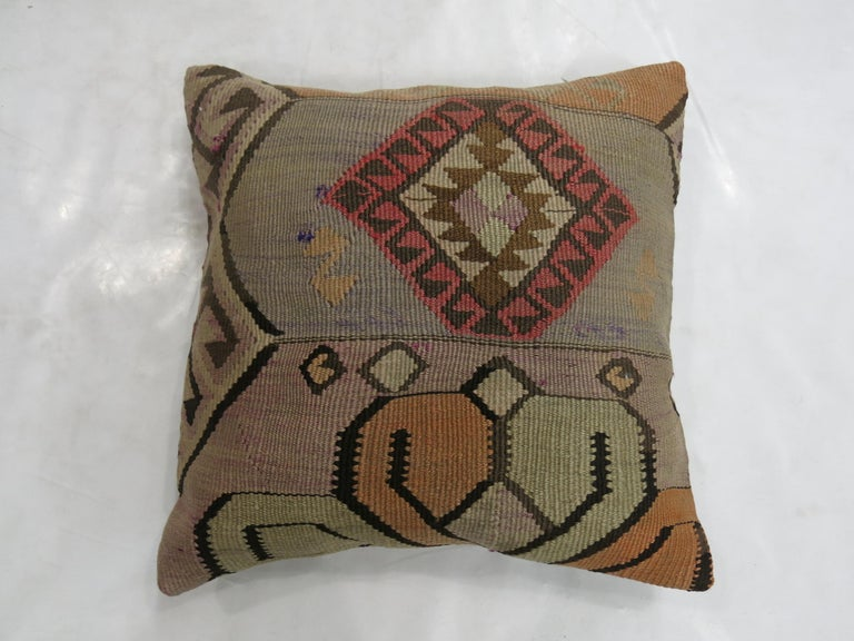 Tribal Kilim Pillow In Excellent Condition For Sale In New York, NY