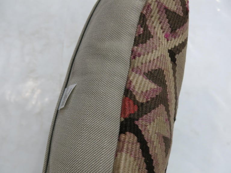 20th Century Tribal Kilim Pillow For Sale