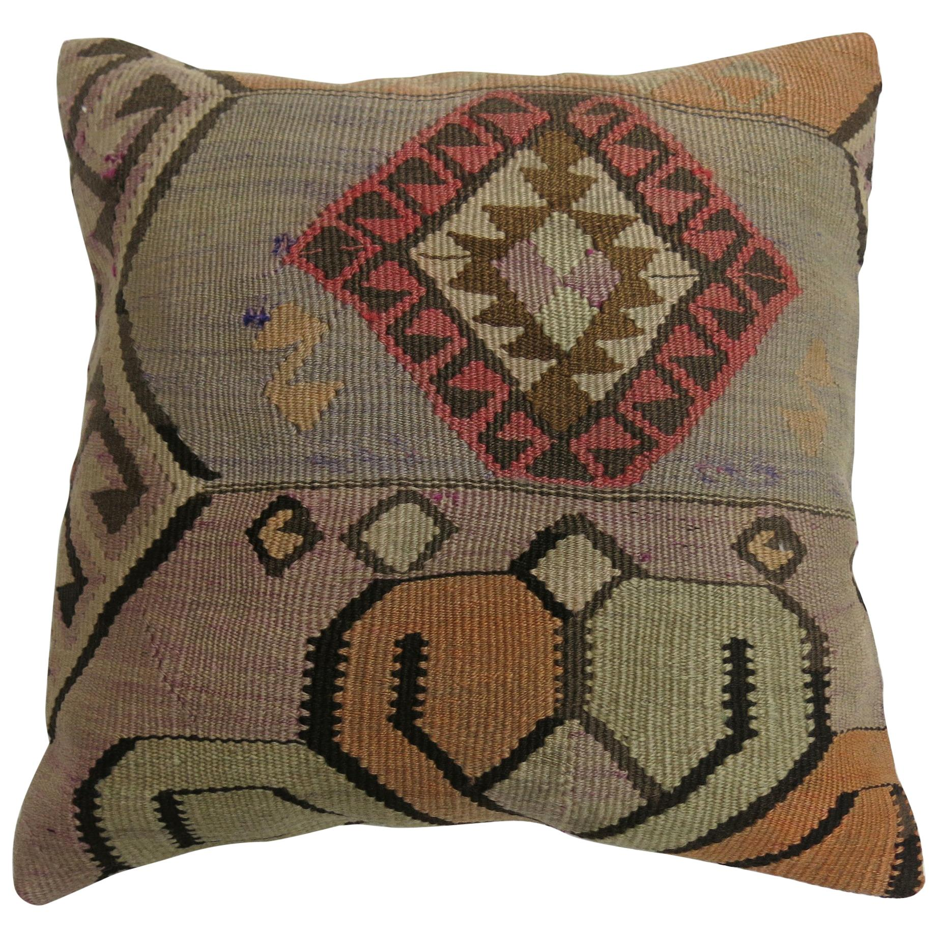 cb916a1a3f Middle Eastern Turkish Tribal Kilim Floor Pillow at 1stdibs