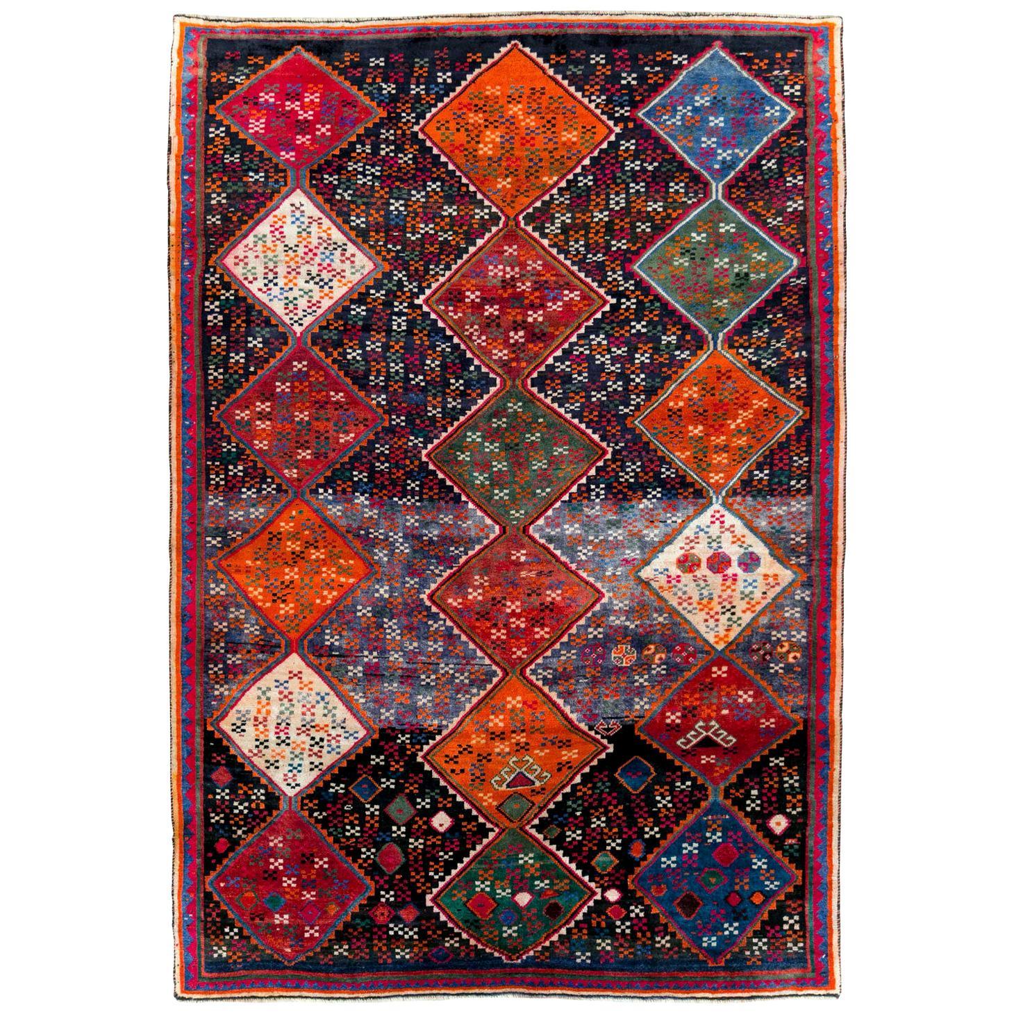Tribal Late 20th Century Handmade Persian Shiraz Accent Rug