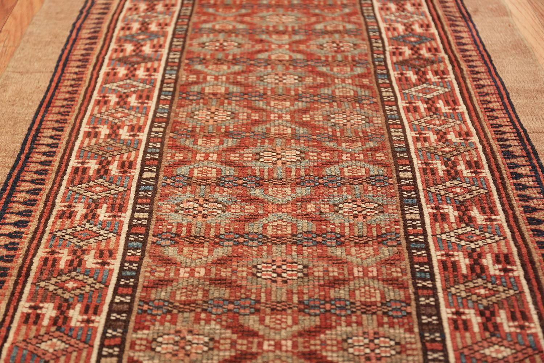 Tribal Long And Narrow Antique Persian Serab Runner Rug