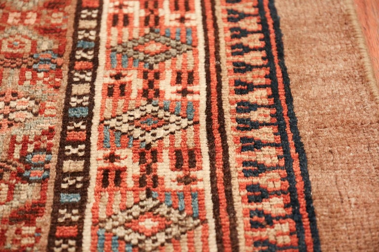 Hand-Knotted Tribal Long and Narrow Antique Persian Serab Runner Rug. Size: 2' 8