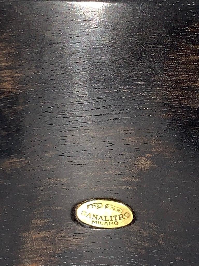 Carved Ebony Wood Italy Green Aventurine Bracelet For Sale 7