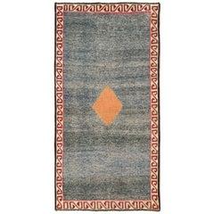 Tribal Mid-20th Century Handmade Persian Gabbeh Accent Rug