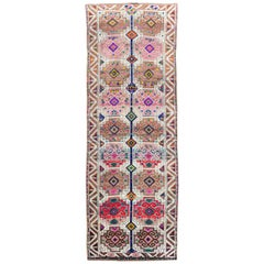 Tribal Mid-20th Century Handmade Turkish Anatolian Gallery Carpet