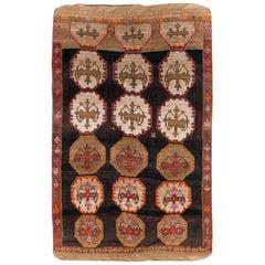 Tribal Mid-20th Century Handmade Turkish Anatolian Room Size Carpet