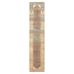 Tribal Paisley Design Persian Malayer Runner Rug. Size: 3 ft 7 in x 16 ft 6 in