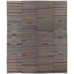 Tribal Persian Mazandaran Flat-Weave Rug