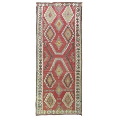 Tribal Red Turkish Gallery Kilim Runner