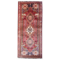 Tribal Runner Rug, Traditional Geometric Carpet Afghan Wool Rug