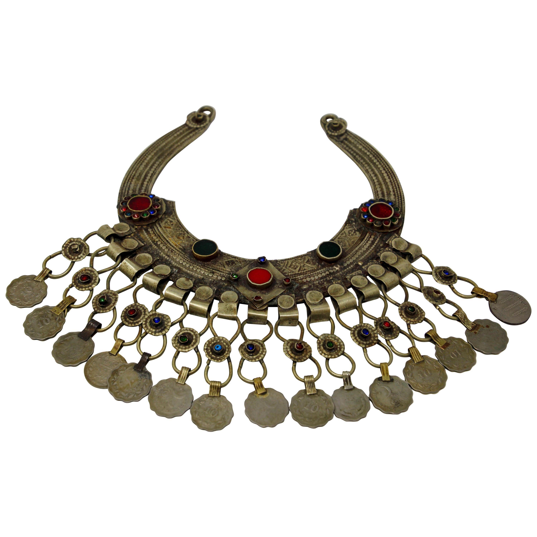 Moroccan Tribal Silver Jewelry Choker