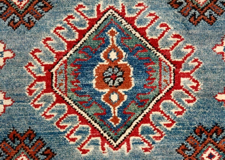 Contemporary Pakistani Kazak Style Runner Rug For Sale 1