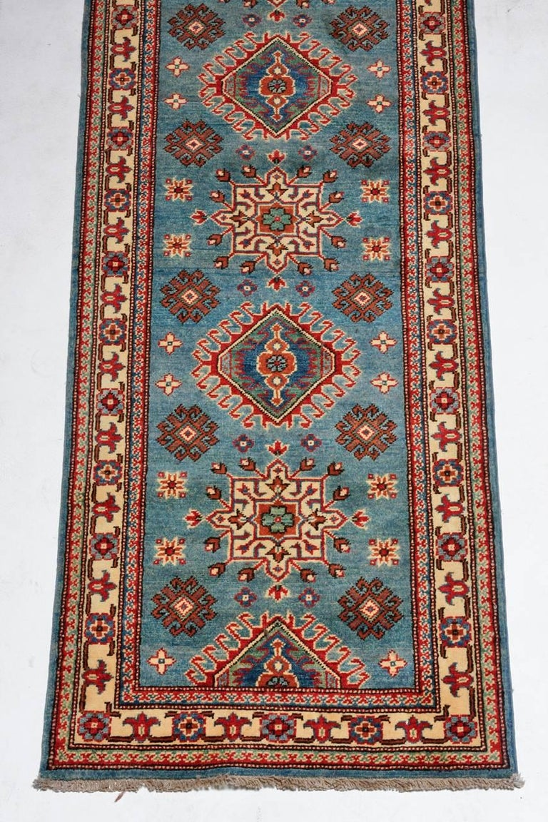 Contemporary Pakistani Kazak Style Runner Rug For Sale 2