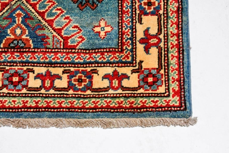 Contemporary Pakistani Kazak Style Runner Rug For Sale 3