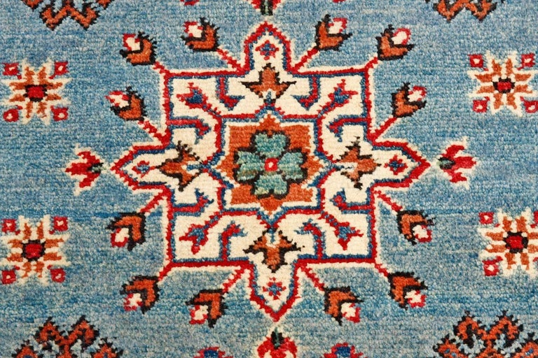 Contemporary Pakistani Kazak Style Runner Rug For Sale 4