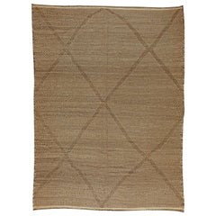Tribal Style Moroccan Flat-Weave Area Rug