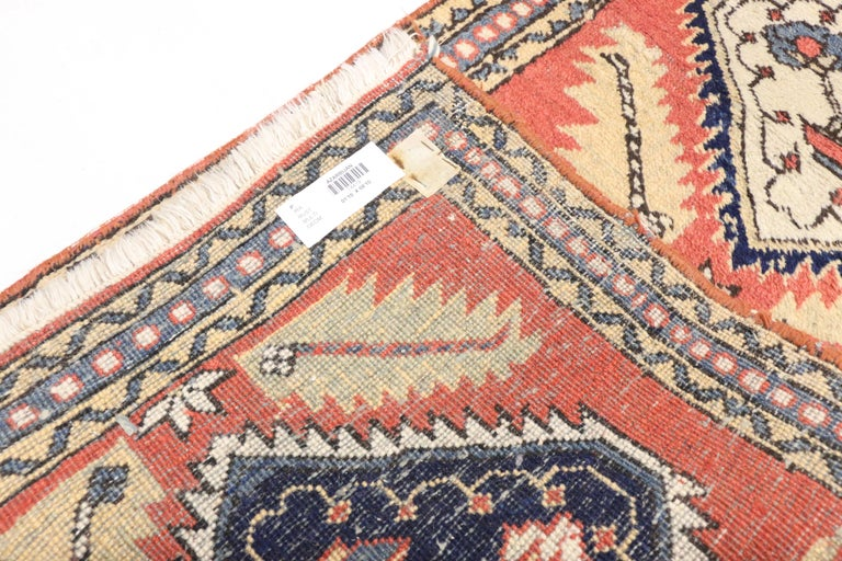 Asian Tribal Style Vintage Persian Azerbaijan Runner, Narrow Hallway Runner For Sale