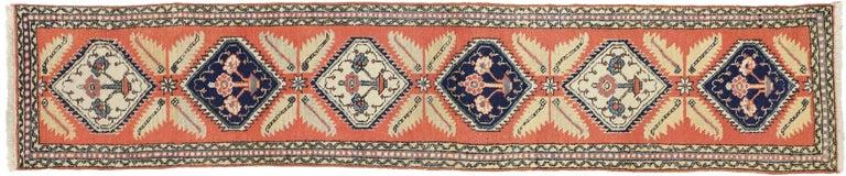 20th Century Tribal Style Vintage Persian Azerbaijan Runner, Narrow Hallway Runner For Sale