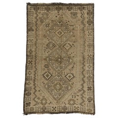 Tribal Style Vintage Persian Shiraz Rug with Warm Colors