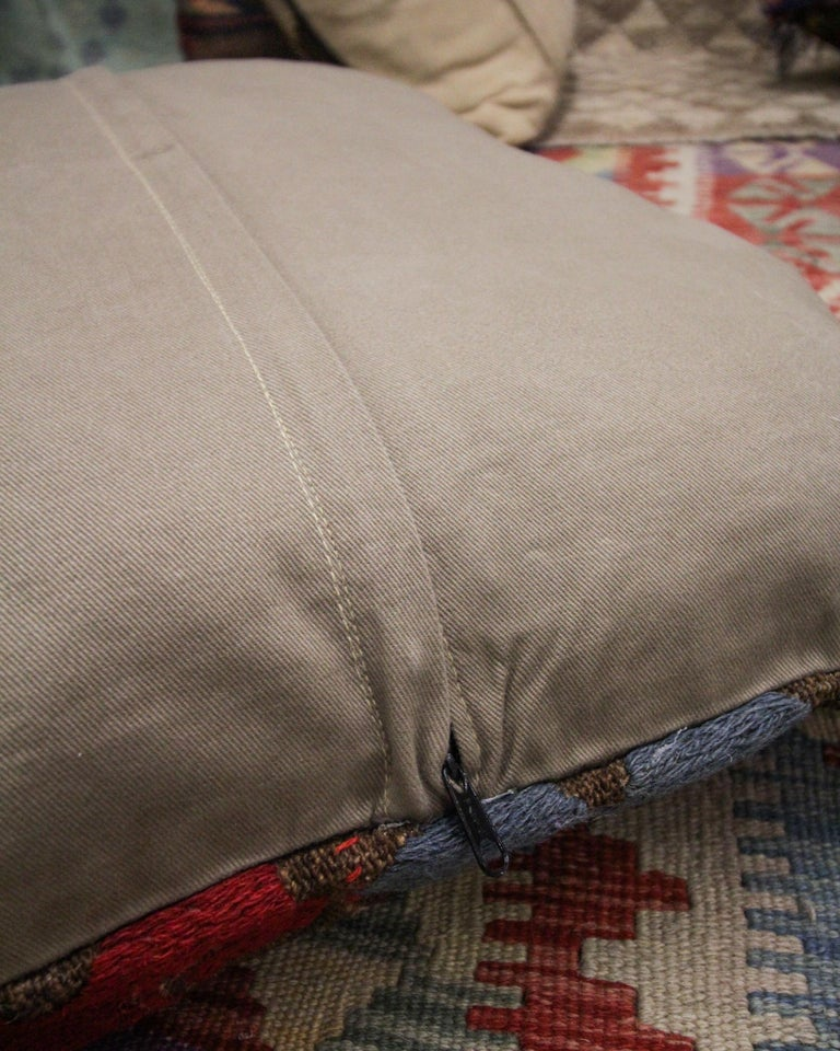 Late 20th Century Tribal Suzani Cushion Cover Handmade Pillow Case Wool Scatter Cushion For Sale