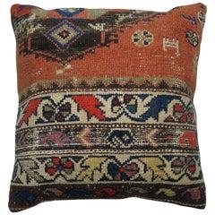 Tribal Traditional Orange Brown Persian Rug Pillow