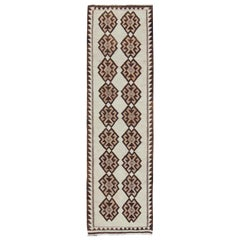Tribal Turkish Kilim in Creams and Browns