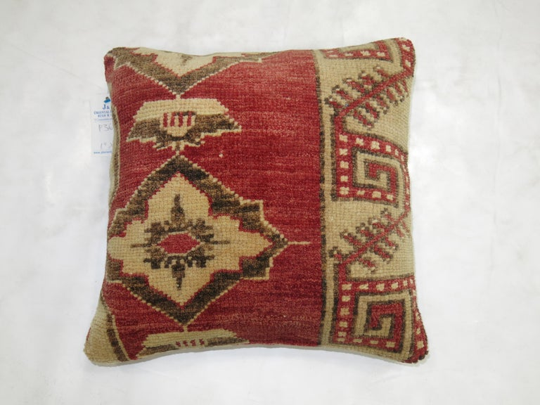 Sporting Art Tribal Turkish Rug Pillow For Sale