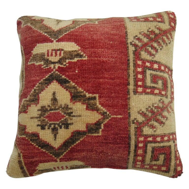 Tribal Turkish Rug Pillow For Sale