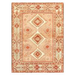 Tribal Vintage Caucasian Kazak Rug. Size: 4 ft 3 in x 5 ft 7 in
