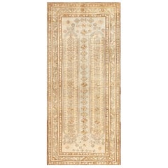 Tribal Vintage Caucasian Kazak Rug. Size: 4 ft 3 in x 9 ft